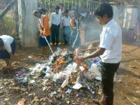 burning out the rubbish