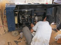 the honda generator was repaired by the mechanic 2