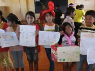 the students who attended in drawing the picture