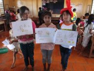 the three students who drew very nice pictures in among of ten students